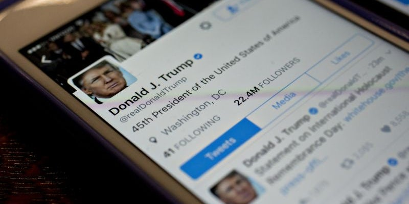 A Twitter contractor deactivated President Trump's account.