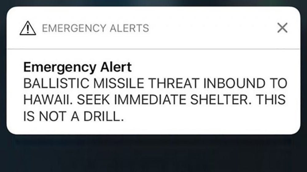 A Hawaiian government worker labeled a missile threat drill 'not a drill.'