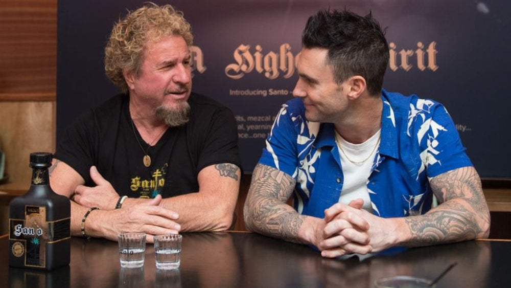 Adam Levine and Sammy Hagar