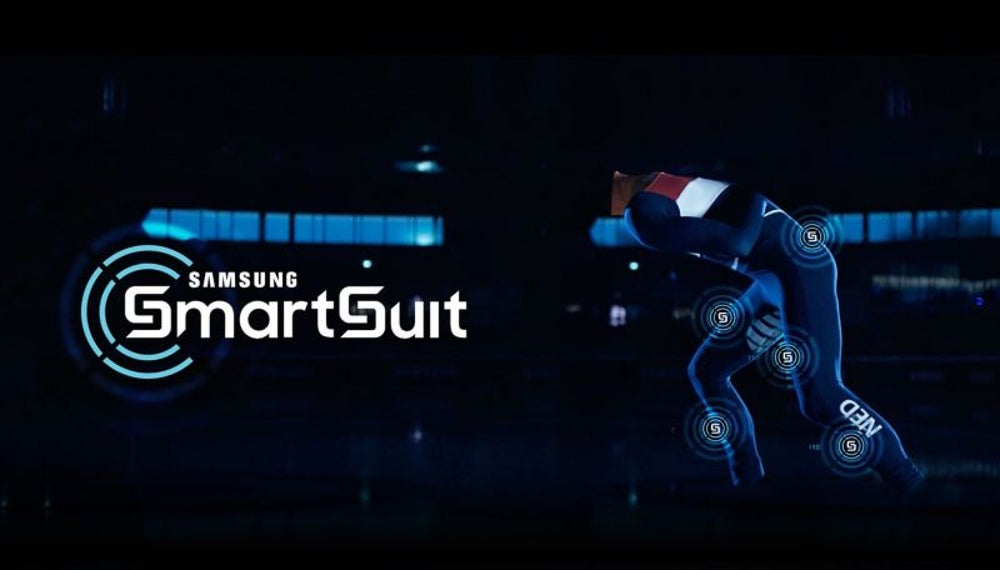 Samsung's data-tracking suits have helped speed skaters train.