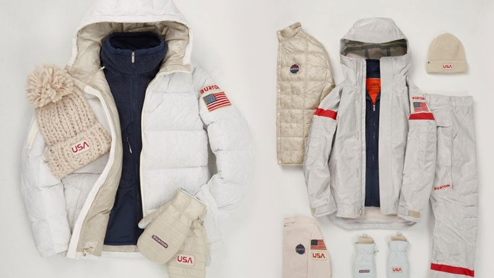 Burton developed NASA-inspired uniforms for snowboarders.