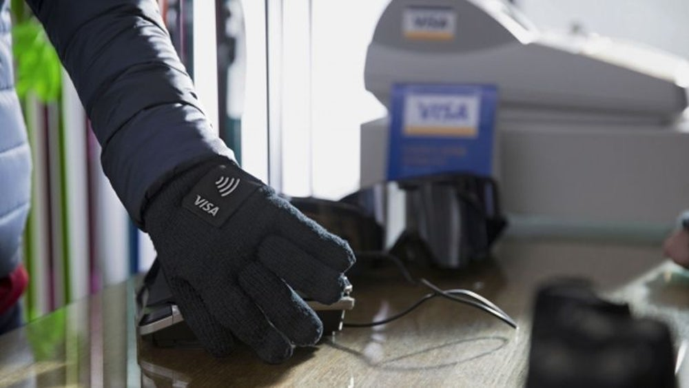 Visa made gloves that let people pay for things.