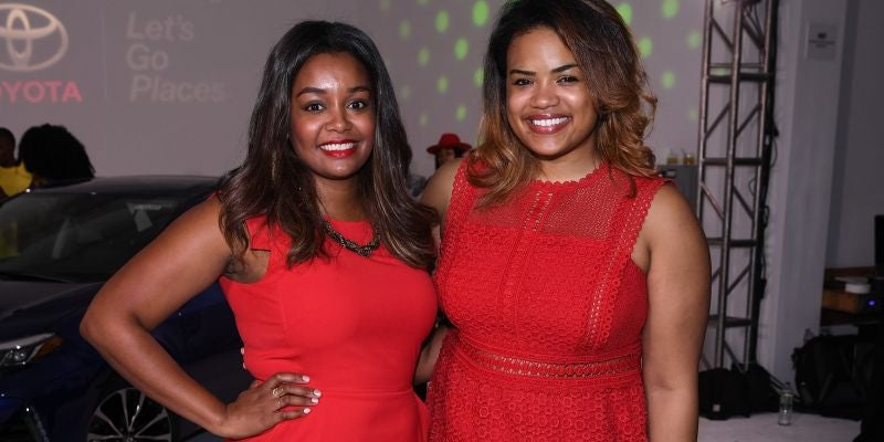 Jennifer Lambert and Jihan Thomas, co-founders of SWIVEL Beauty