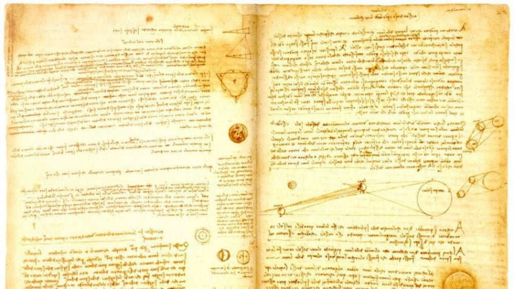 Bill Gates' scientific scribbles by Leonardo Da Vinci