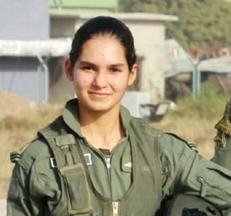 First female to fly fighter aircraft