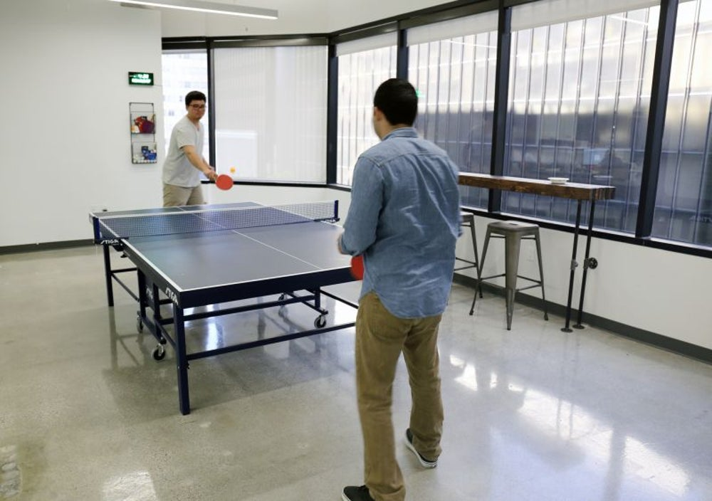 Yes, there is a Ping-Pong table -- but for a good reason.