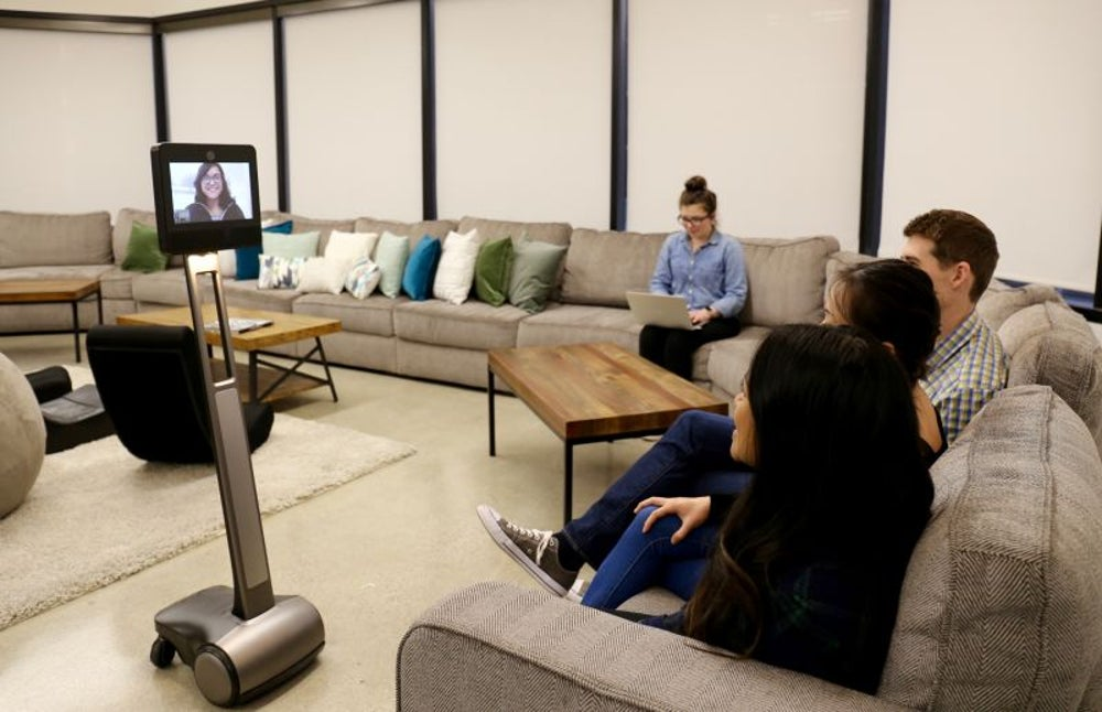 Evite uses video conference robots so remote employees don't feel left out.