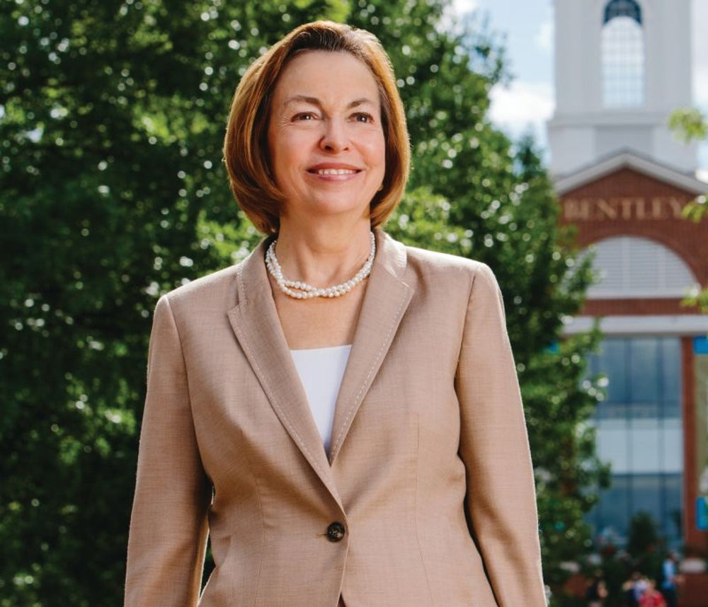 Gloria Larson, president of Bentley University