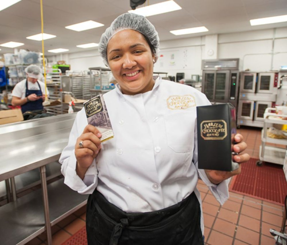 Jessica Spaulding, owner and founder of Harlem Chocolate Factory