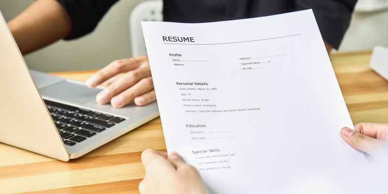 Write resumes.