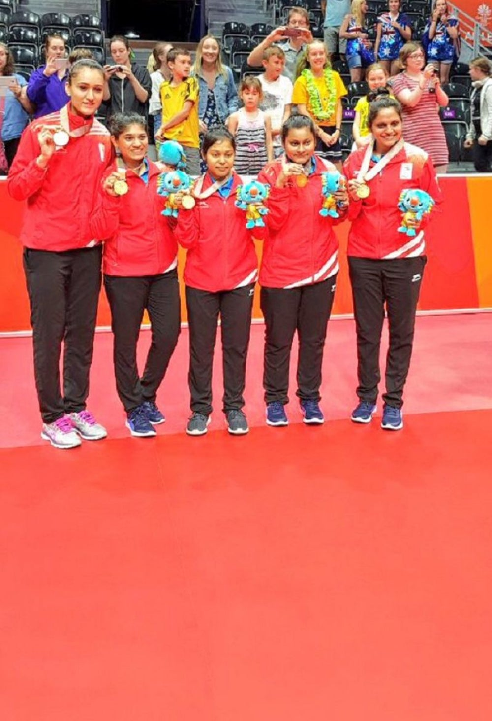 Indian Women TT Team (Manika Batra, Mouma Das, Madhurika Patkar)