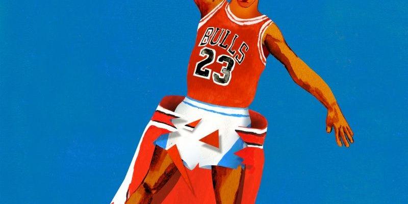 Michael Jordan wore shorts under his shorts.
