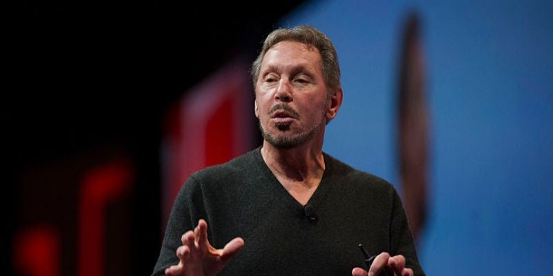 Larry Ellison dropped out of college twice before finding his true calling at Oracle.