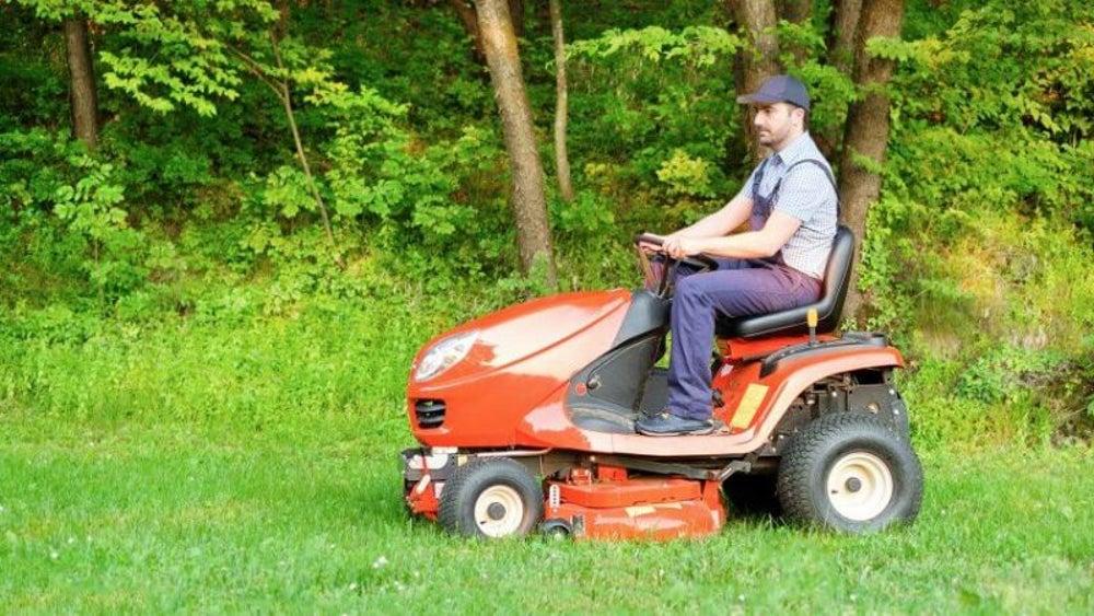 Lawn maintenance worker