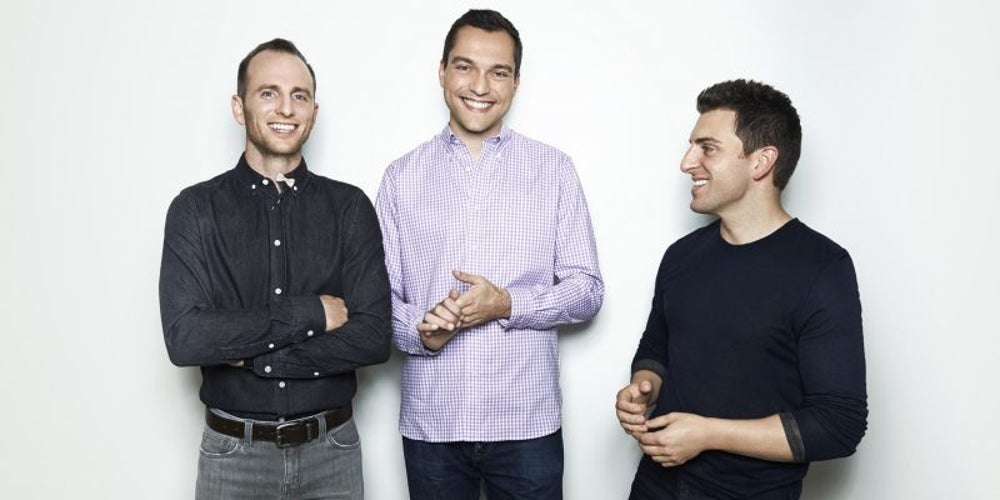 Nathan Blecharczyk, Brian Chesky and Joe Gebbia, Airbnb