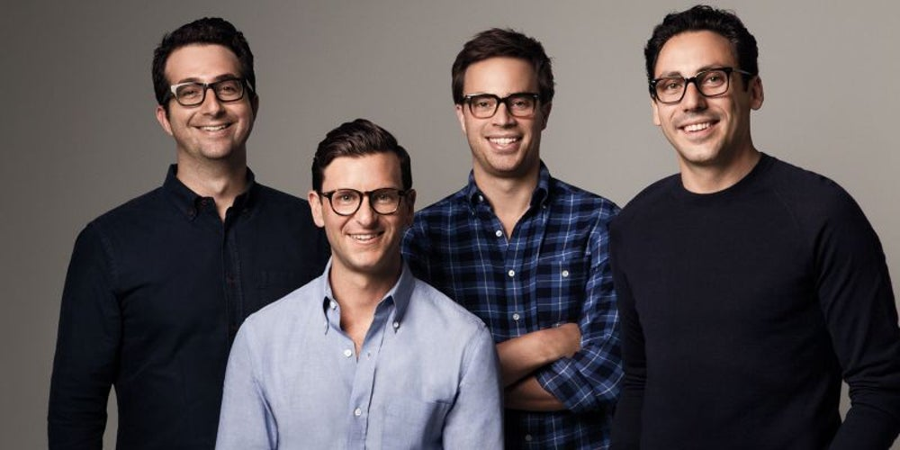 Neil Blumenthal, Dave Gilboa, Andrew Hunt and Jeffrey Raider, Warby Parker