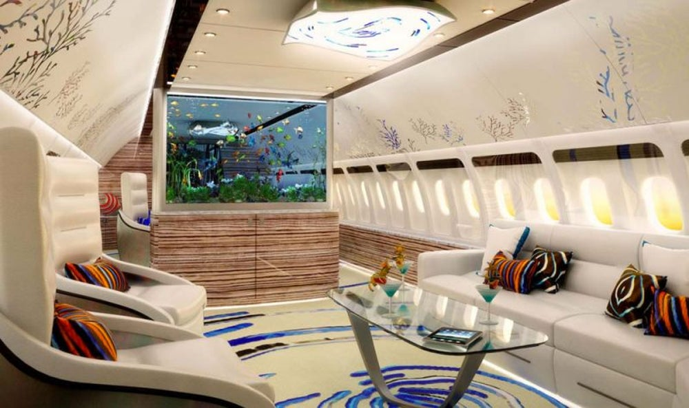 Private jet interior designer