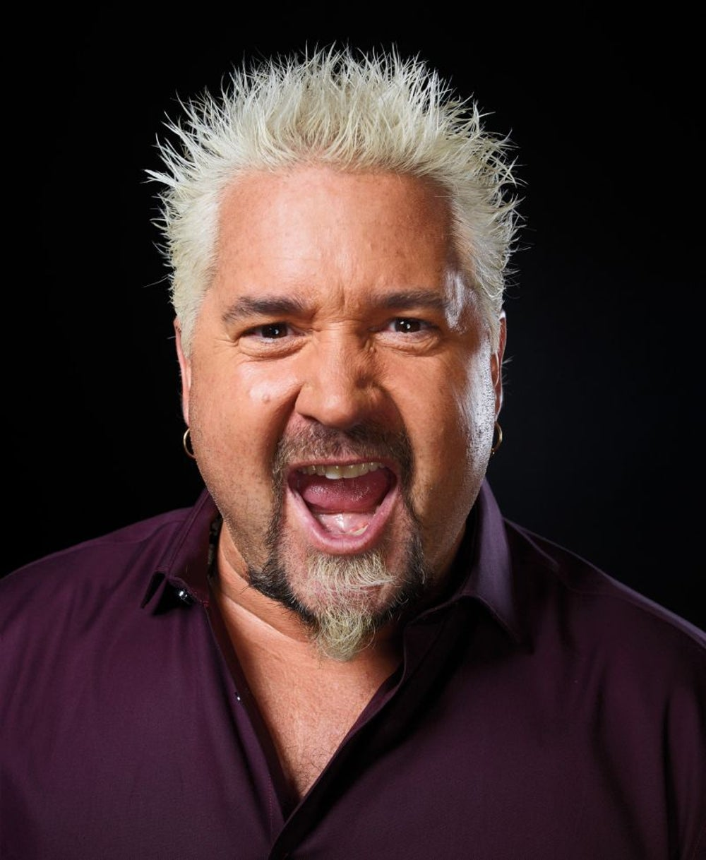 Guy Fieri: Chef, author, TV personality, Donkey Sauce maker