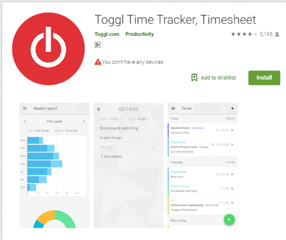 Toggl (Web, Chrome, Android, iOS, Windows, Mac)