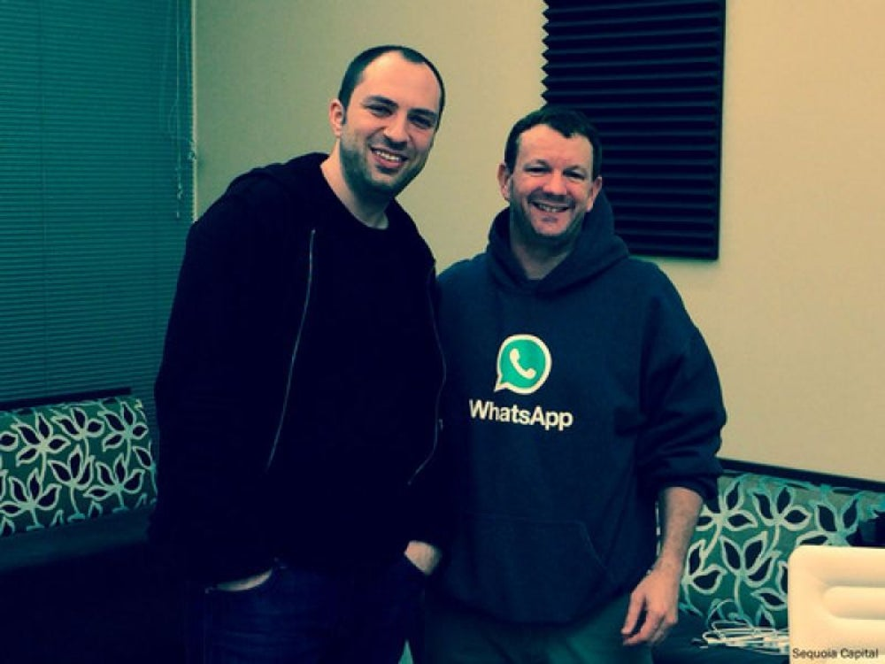 WhatsApp's founders - Jan Koum and Brian Acton