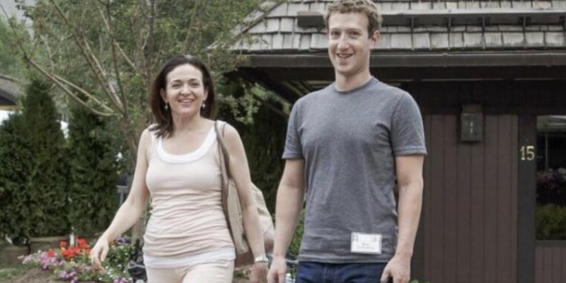 14. Jerry Sandberg y Mark Zuckerberg: Facebook
