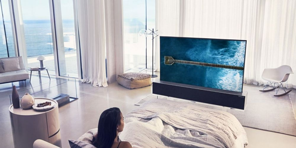 A roll-up television.