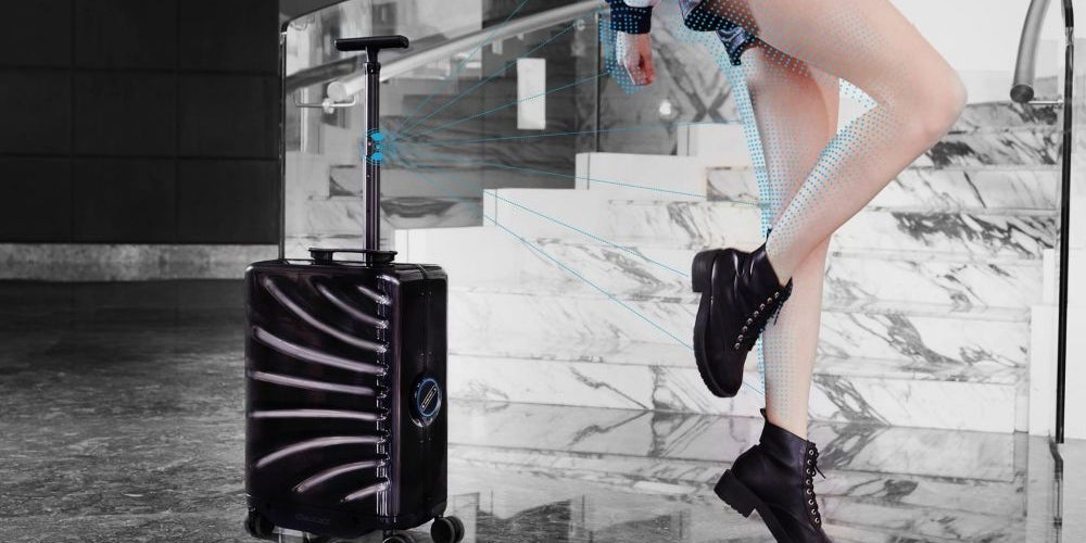 A hands-free suitcase that follows behind you wherever you go.