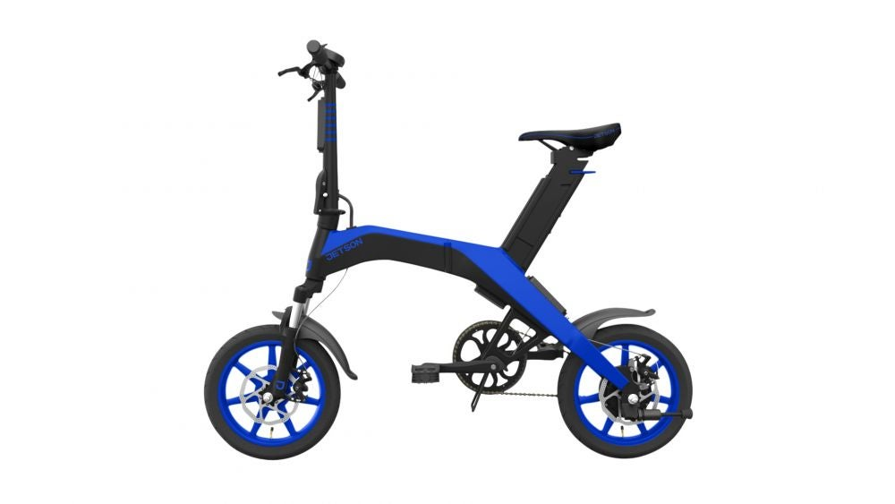 An e-bike that folds up and fits on the subway.