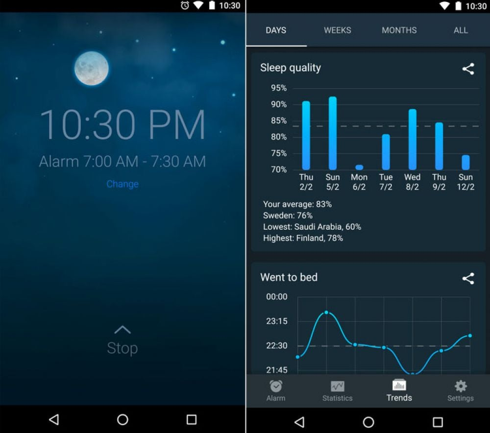 Sleep Cycle (Free, iOS or Android)