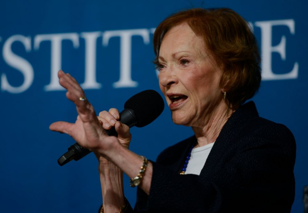 """A leader takes people where they want to go. A great leader takes people where they don't necessarily want to go, but ought to be."" -- Rosalynn Carter"