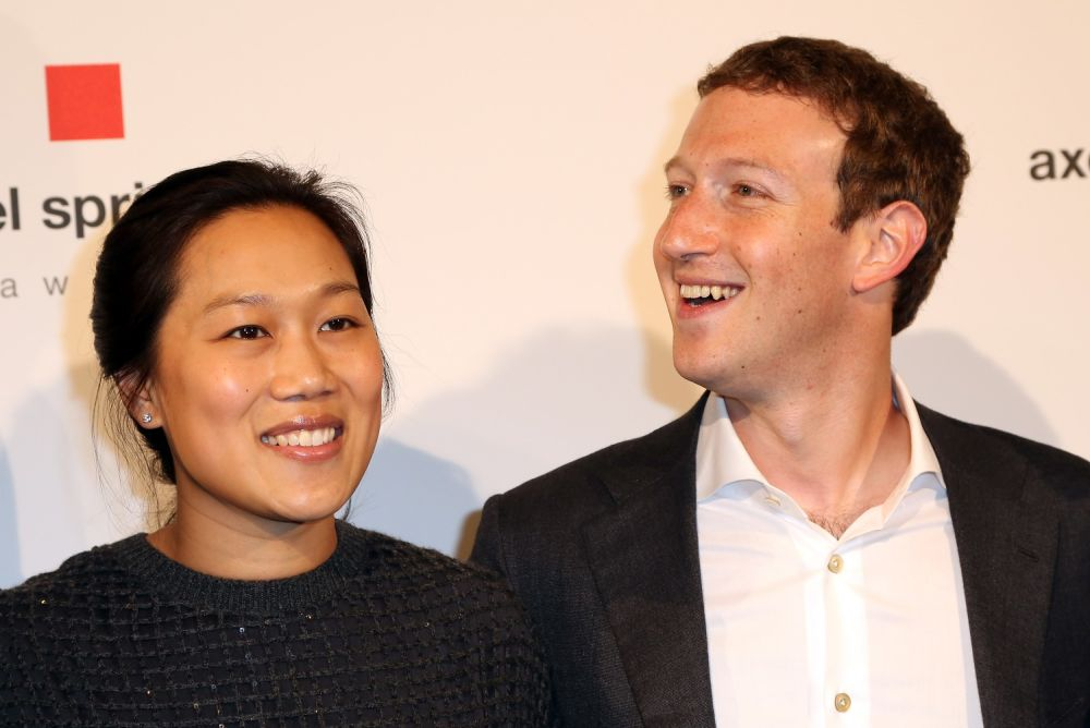 7. Mark Zuckerberg and Priscilla Chan