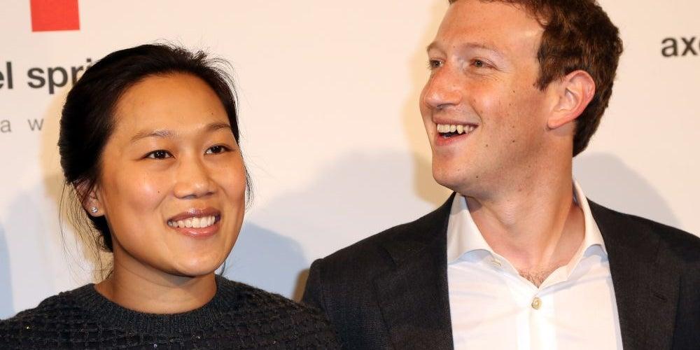 7. Mark Zuckerberg and Priscilla Chan