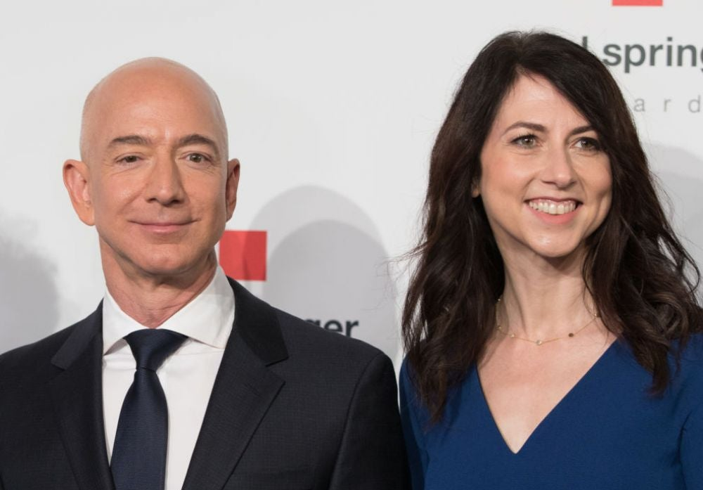 1. Jeff and MacKenzie Bezos