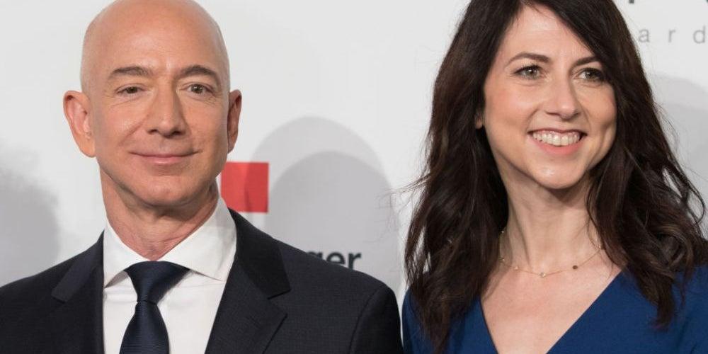 1. Jeff and MacKenzie Bezos