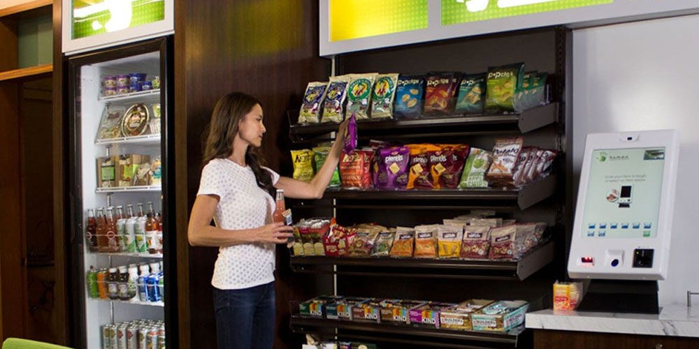 10. Healthy vending machines