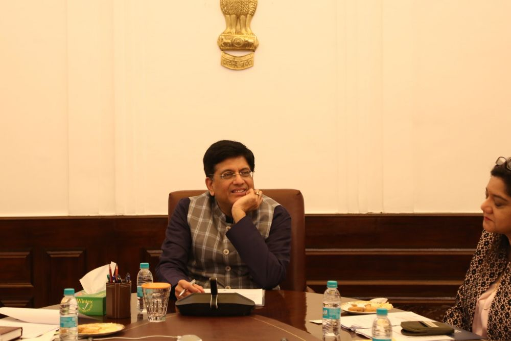 Piyush Goyal - Ministry of Railways , Minister of Commerce and Industry