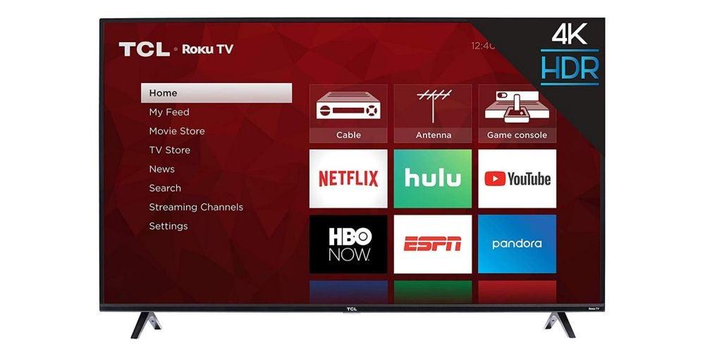 TCL 50S425 50 inch 4K Smart LED Roku TV (2019) - $279.99