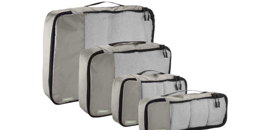 AmazonBasics 4-Piece Packing Travel Organizer Cubes Set - $20