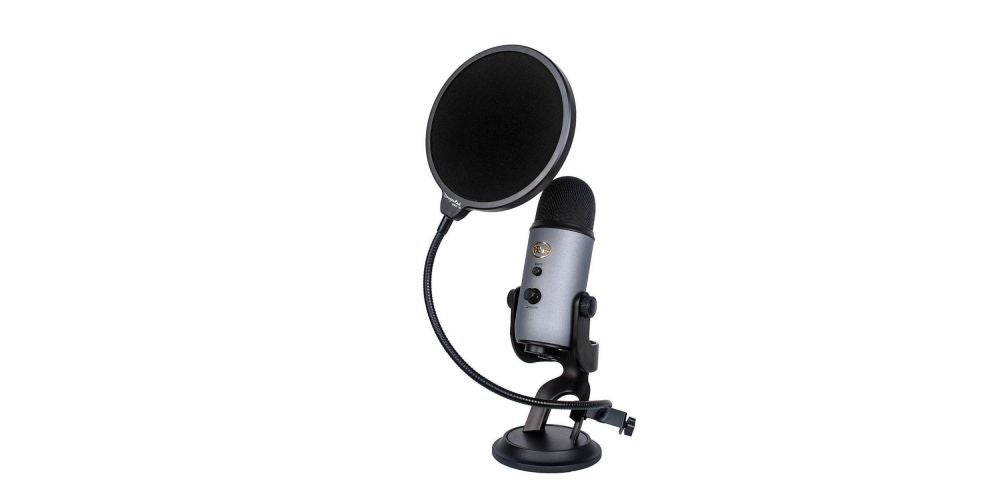 "Dragonpad USA 6"" Microphone Studio Pop Filter with Clamp"