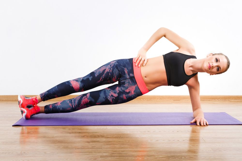 Side plank holds (30 seconds each side X 3 sets)