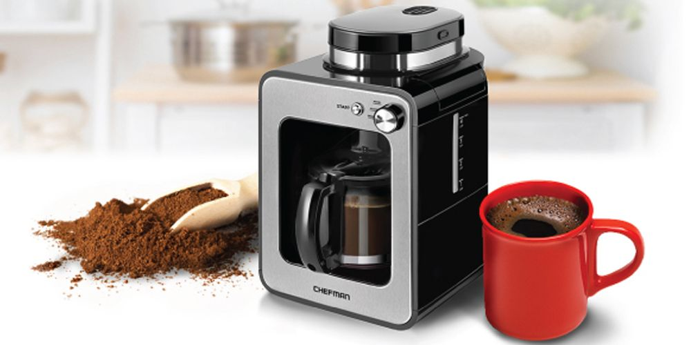 Chefman 4-Cup Grind & Brew Coffee Maker