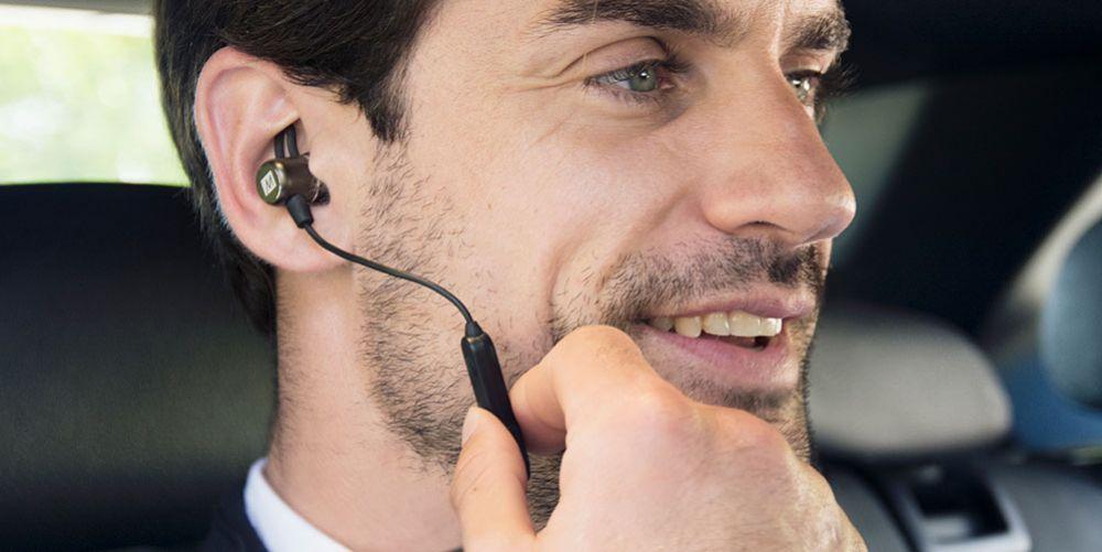 MEE audio EarBoost EB1 Bluetooth Wireless Adaptive Audio Enhancement Earphones