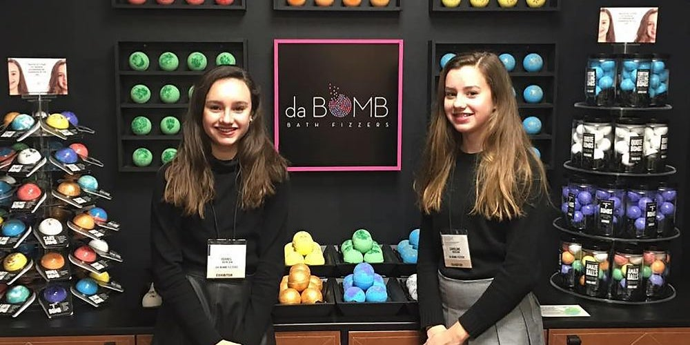Caroline and Isabel Bercaw, founders of Da Bomb Bath