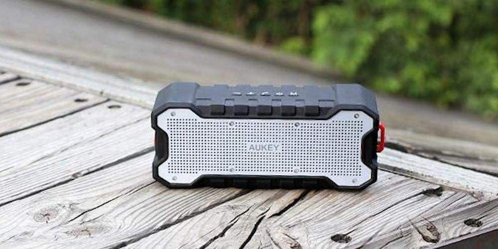AUKEY Waterproof Bluetooth Speaker with Outdoor Loud Sound