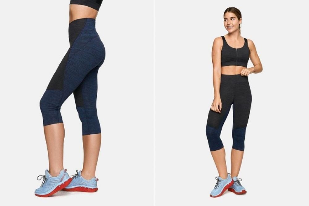 TechSweat Two-Tone Kneecap Leggings