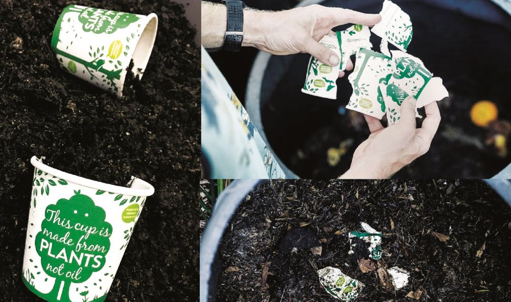 Tableware that turns into soil
