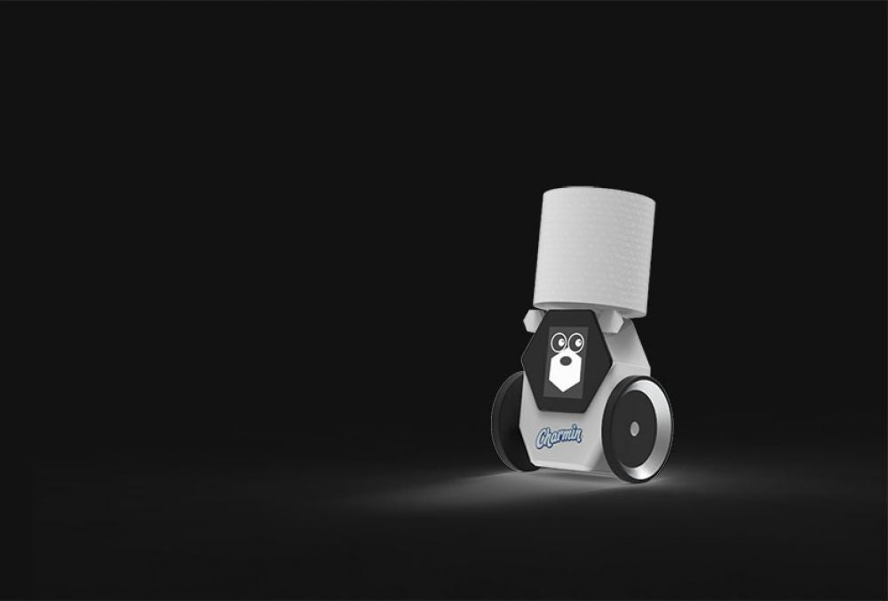 A toilet paper-toting robot for when you're stranded.
