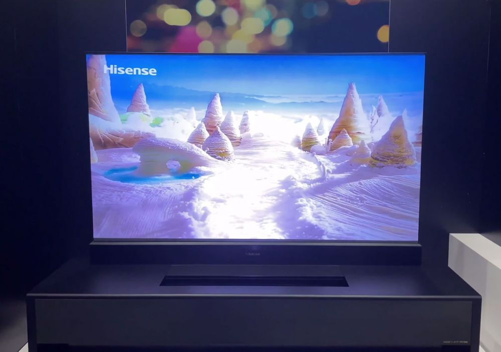 Self-Rising Screen Laser TV by Hisense