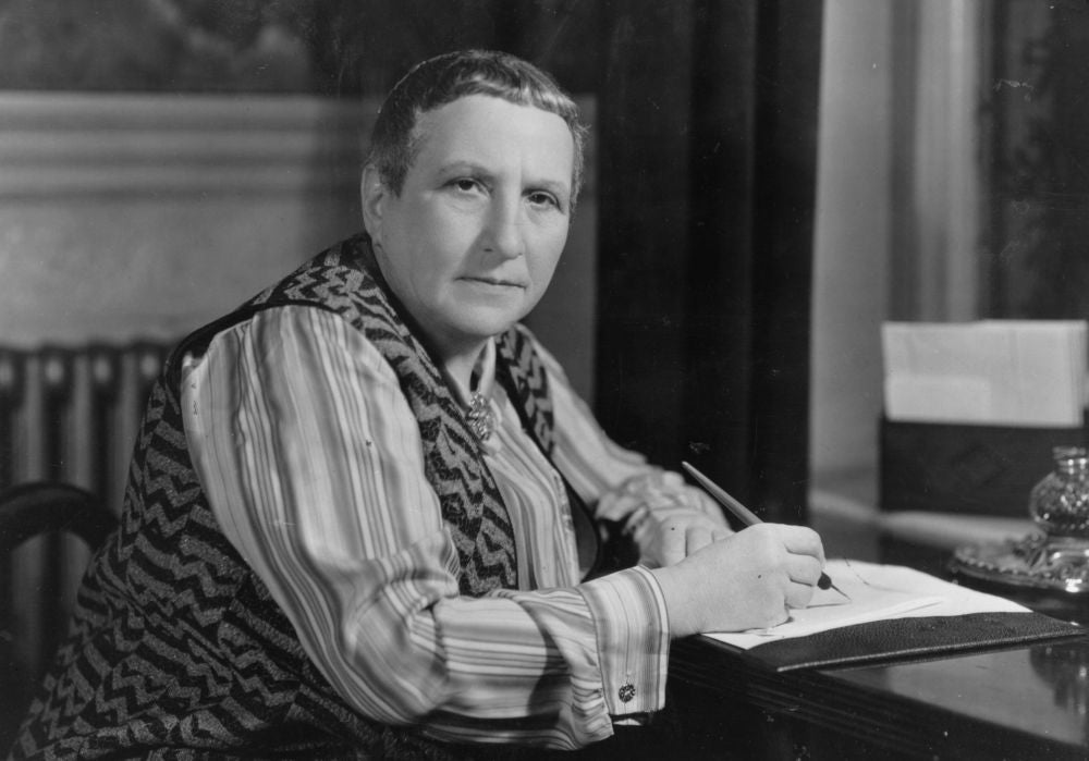 Gertrude Stein, at least 2 cups