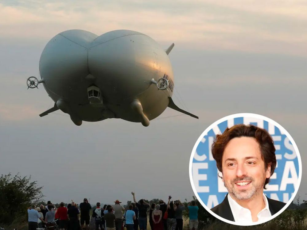 Google cofounder Sergey Brin has reportedly invested between $100 and $150 million of his own money in building a 600-foot flying airship.